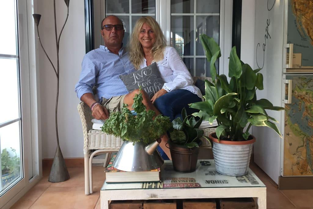 Alberto y Marina, huéspedes de Casa Bonita