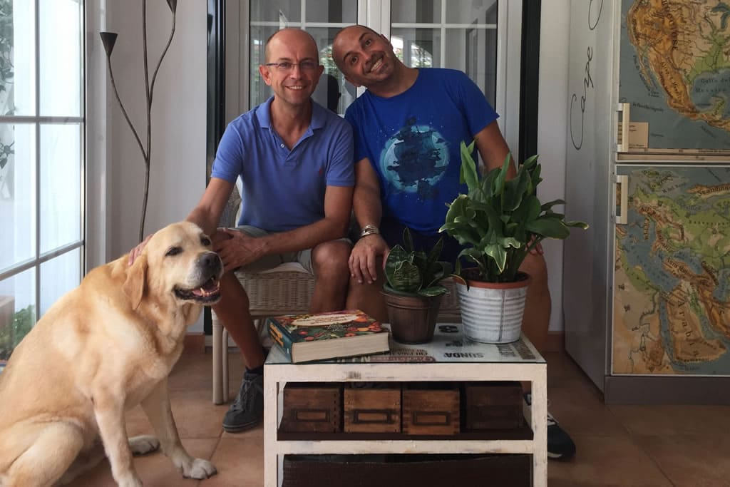 2017, Guests of Casa Bonita Menorca: Gianandrea and Damiano