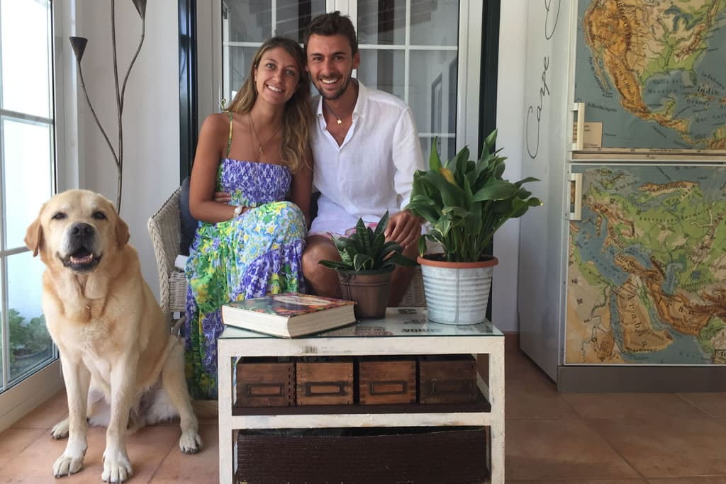 Giulia y Matteo, huéspedes de Casa Bonita