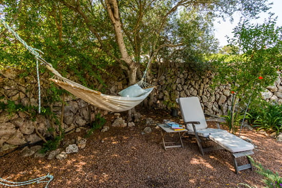 Hammock in a corner of the garden