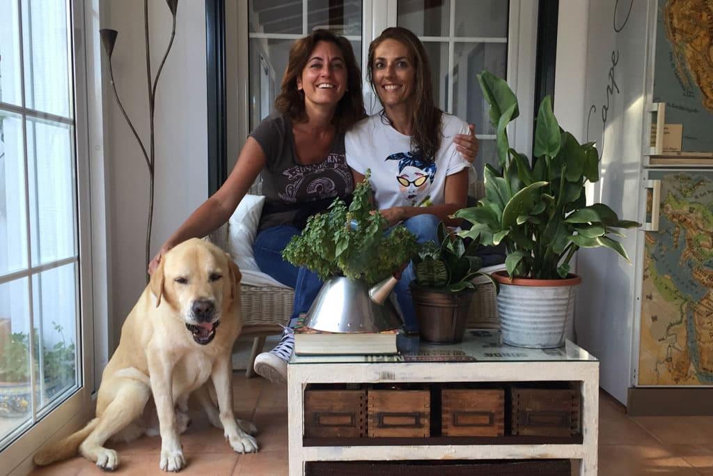 Silvia y Francesca, huéspedes de Casa Bonita: