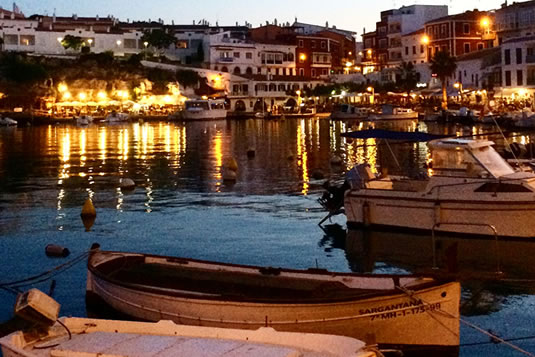 The most British town of Menorca, Es Castell, has a characteristic port with shops, bars and restaurants