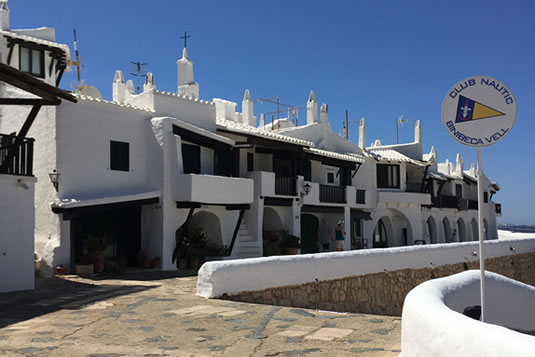 Built in 1972, the village of Binibeca Vell is a labyrinth of white streets and houses