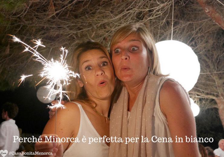 14 agosto 2018, prima Cena en blanco Menorca