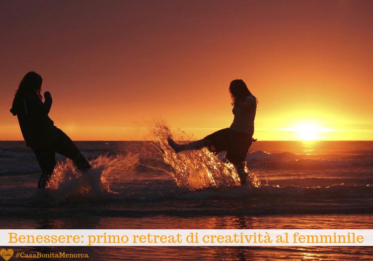 """Il tramonto in spiaggia è nel programma del retreat """"Creatività al femminile"""""""