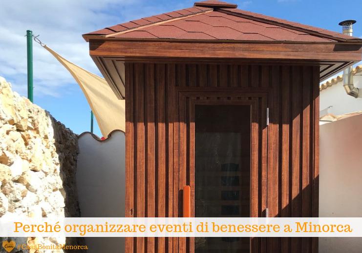 Nel giardino di Casa Bonita c'è una sauna a infrarossi per due persone