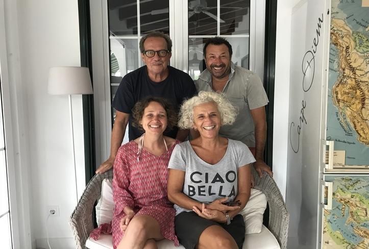 Verena y Gunther con Nino y Gloria, Casa Bonita Menorca 2018