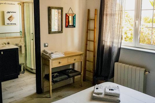 Anche la camera Confucio è una doppia con bagno privato