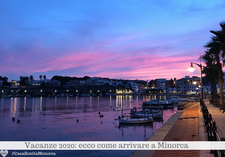 Vacanze 2020: i colori di un tramonto a Es Castell, Cales Fonts