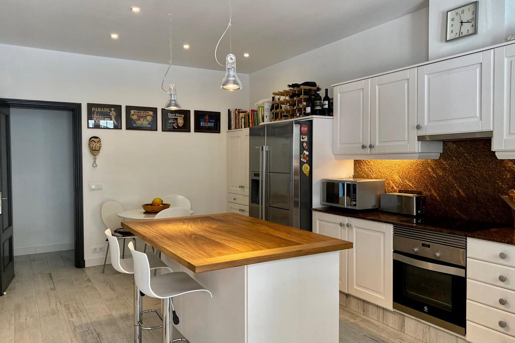 Even the kitchen of Casa Bonita is Italian style