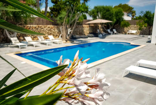 saltwater pool casa bonita menorca