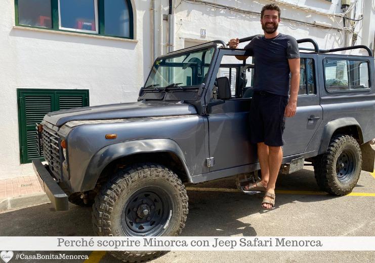 Gonzalo Lopez è l'ideatore di Jeep Safari Menorca